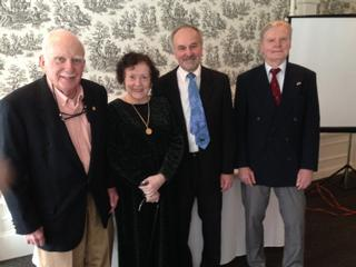 Treasurer Dick Zwetsch, Nancy Love, Roger F. Landry and Vice President Rossolimo